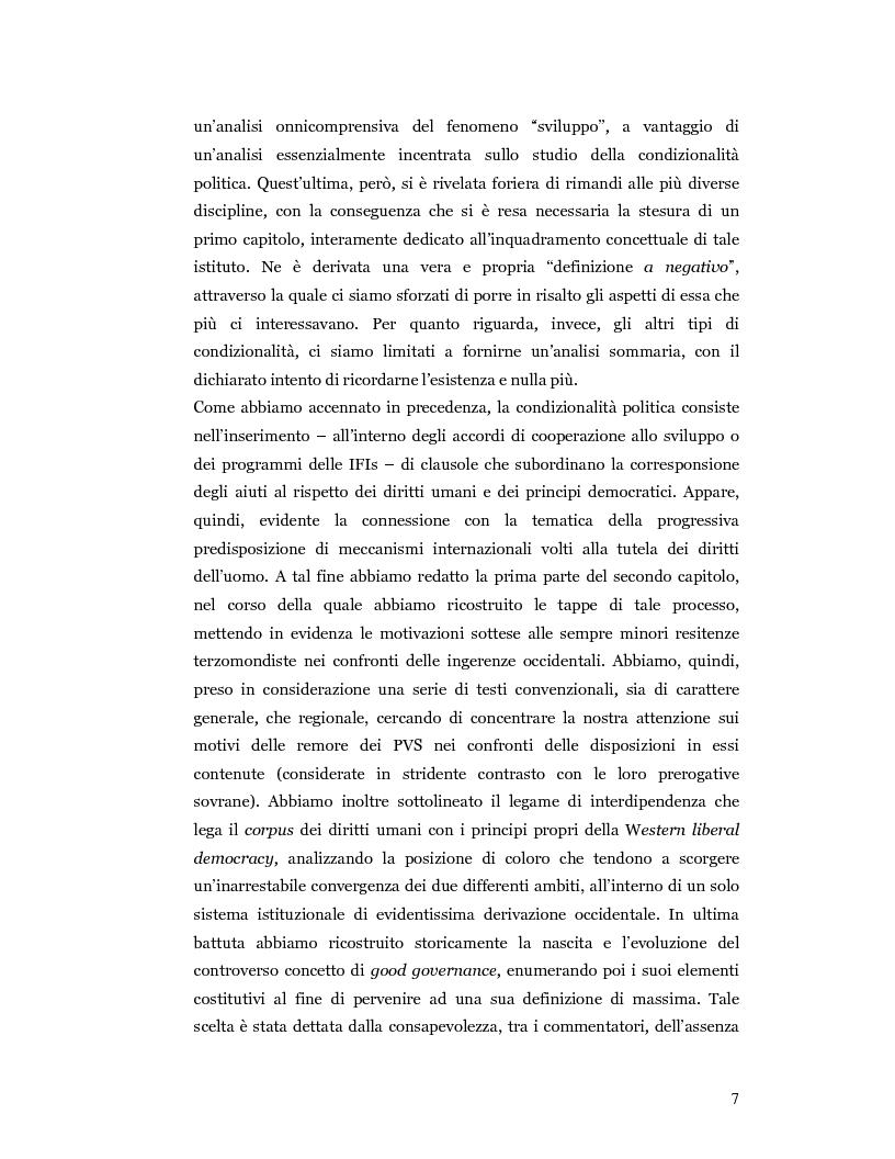 Anteprima della tesi: Nuove prospettive in materia di diritto dello sviluppo in Africa: le clausole di condizionalità politica nella prassi delle IFIs e dell'UE a confronto, Pagina 4