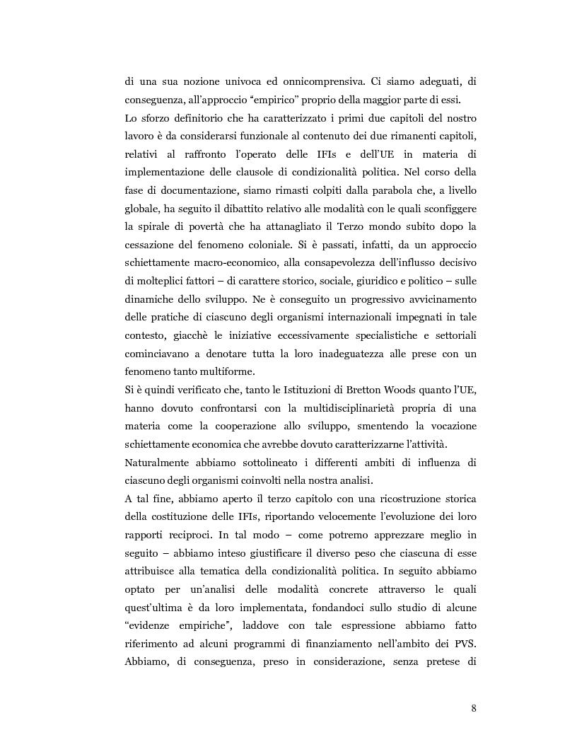 Anteprima della tesi: Nuove prospettive in materia di diritto dello sviluppo in Africa: le clausole di condizionalità politica nella prassi delle IFIs e dell'UE a confronto, Pagina 5