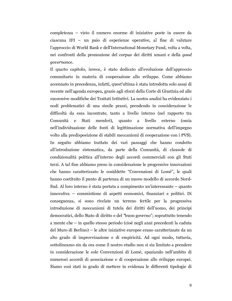 Anteprima della tesi: Nuove prospettive in materia di diritto dello sviluppo in Africa: le clausole di condizionalità politica nella prassi delle IFIs e dell'UE a confronto, Pagina 6