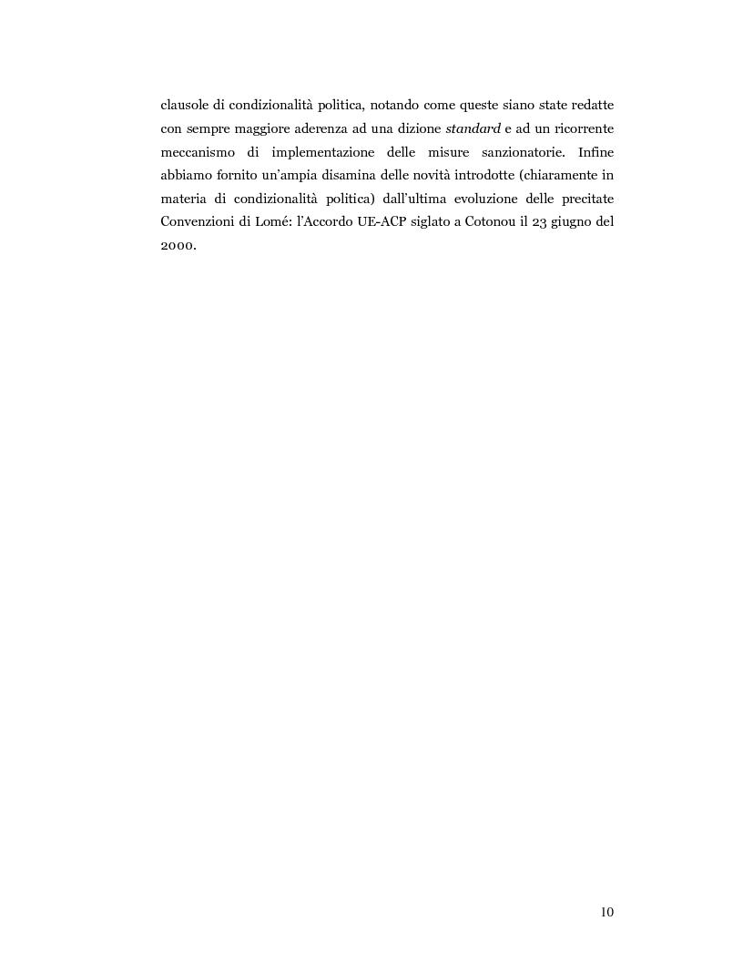 Anteprima della tesi: Nuove prospettive in materia di diritto dello sviluppo in Africa: le clausole di condizionalità politica nella prassi delle IFIs e dell'UE a confronto, Pagina 7