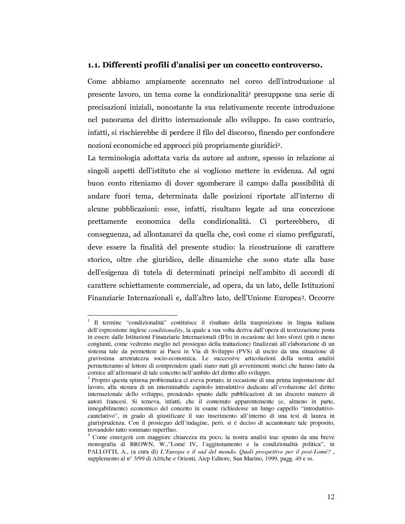 Anteprima della tesi: Nuove prospettive in materia di diritto dello sviluppo in Africa: le clausole di condizionalità politica nella prassi delle IFIs e dell'UE a confronto, Pagina 9