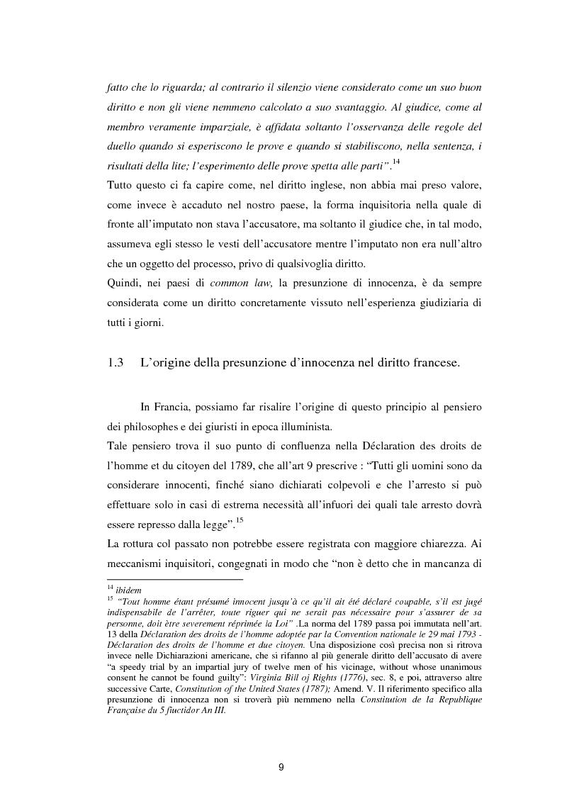 Anteprima della tesi: La presunzione di innocenza, Pagina 10