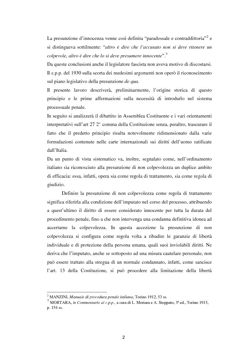 Anteprima della tesi: La presunzione di innocenza, Pagina 3