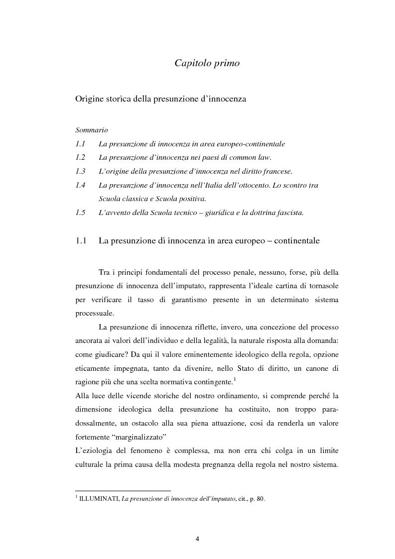 Anteprima della tesi: La presunzione di innocenza, Pagina 5