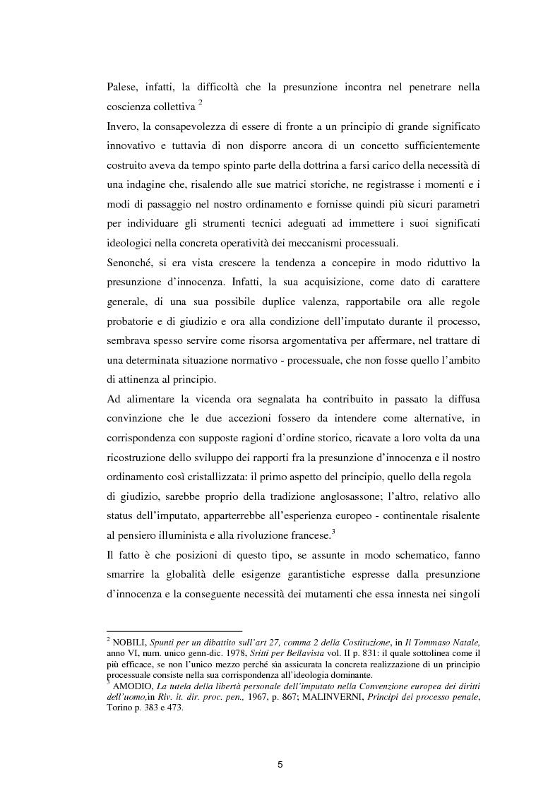 Anteprima della tesi: La presunzione di innocenza, Pagina 6