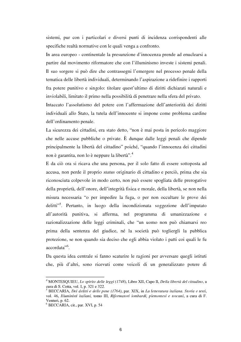 Anteprima della tesi: La presunzione di innocenza, Pagina 7