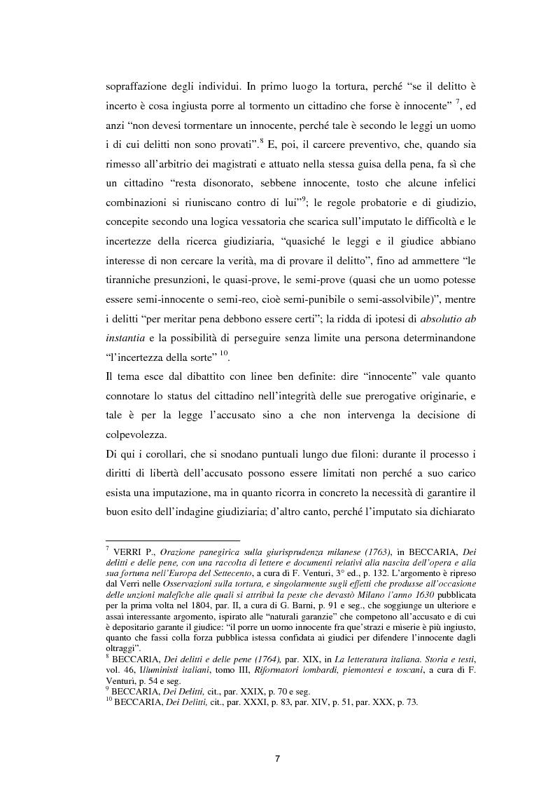 Anteprima della tesi: La presunzione di innocenza, Pagina 8