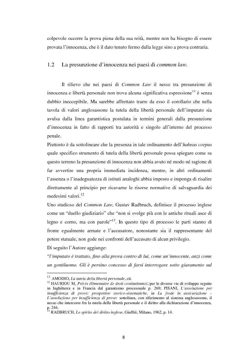 Anteprima della tesi: La presunzione di innocenza, Pagina 9