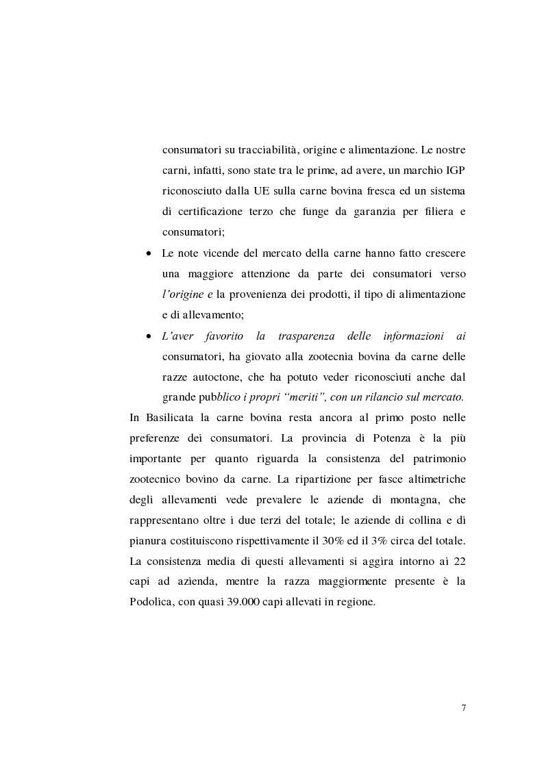 Anteprima della tesi: Sostenibilità zootecnica in ordinamenti produttivi del Mezzogiorno continentale: Podolica e Marchigiana, Pagina 2