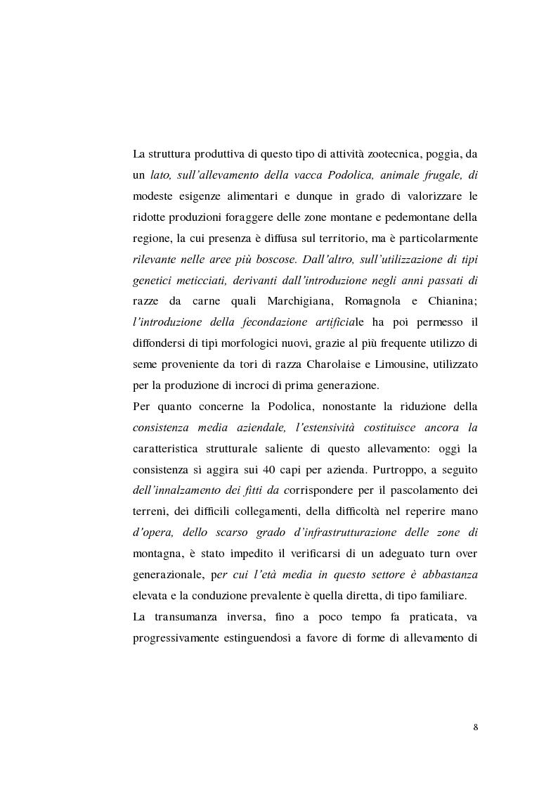 Anteprima della tesi: Sostenibilità zootecnica in ordinamenti produttivi del Mezzogiorno continentale: Podolica e Marchigiana, Pagina 3
