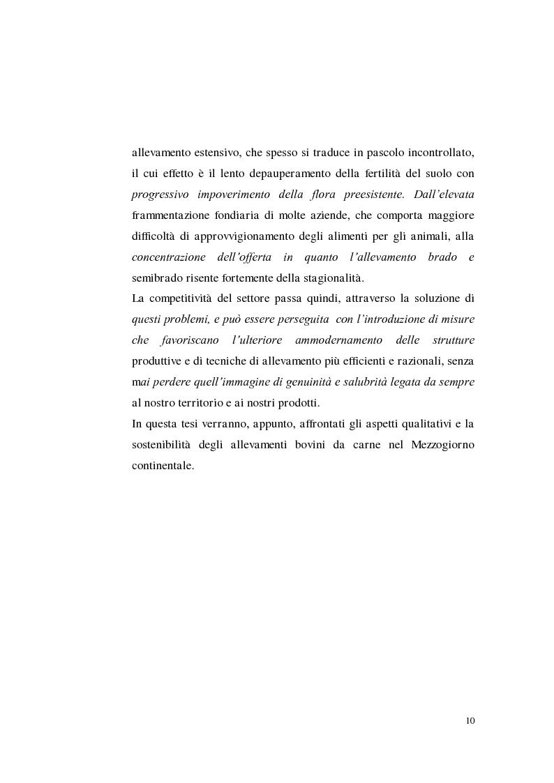 Anteprima della tesi: Sostenibilità zootecnica in ordinamenti produttivi del Mezzogiorno continentale: Podolica e Marchigiana, Pagina 5