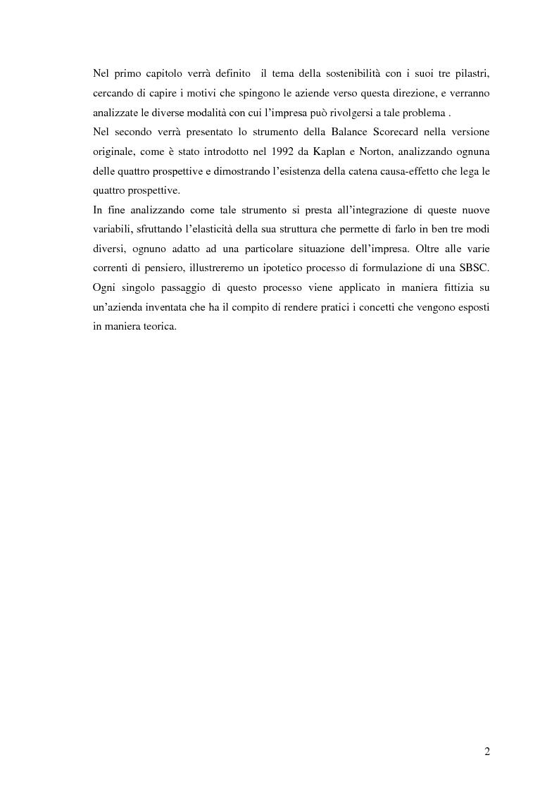 Anteprima della tesi: Balance scorecard sostenibile, Pagina 2