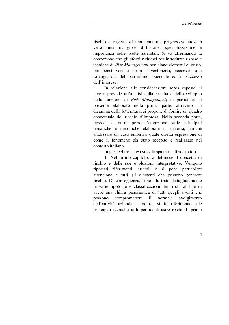 Anteprima della tesi: Enterprise Risk Management: il caso Gruppo Telecom Italia, Pagina 4