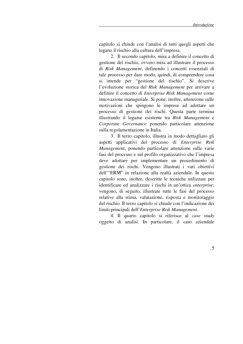 Anteprima della tesi: Enterprise Risk Management: il caso Gruppo Telecom Italia, Pagina 5