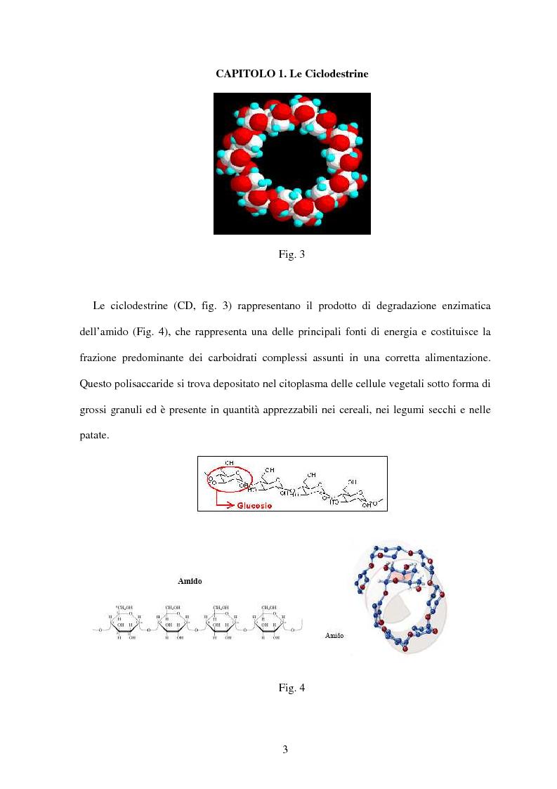 Anteprima della tesi: Le ciclodestrine nella chimica degli alimenti, Pagina 1