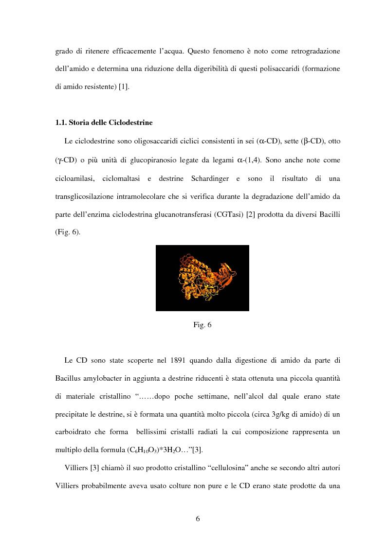 Anteprima della tesi: Le ciclodestrine nella chimica degli alimenti, Pagina 4