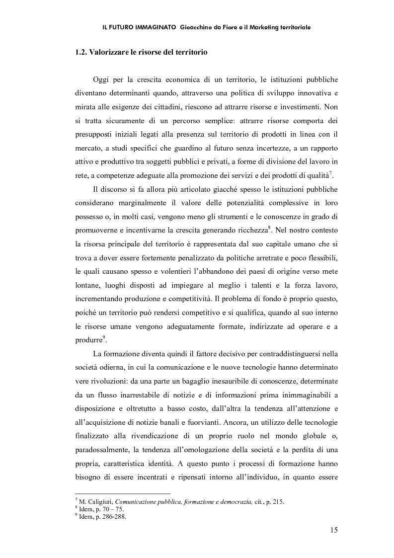 Anteprima della tesi: Il futuro immaginato - Gioacchino da Fiore e il marketing territoriale, Pagina 11