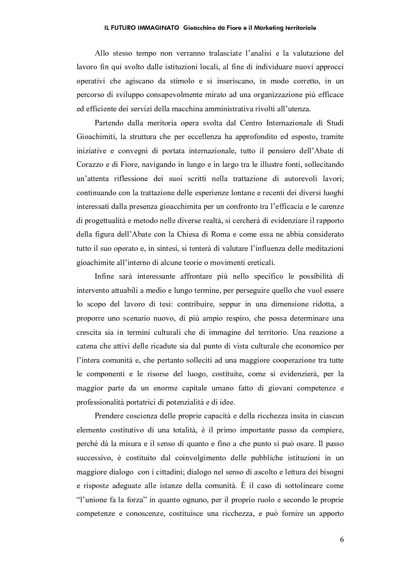 Anteprima della tesi: Il futuro immaginato - Gioacchino da Fiore e il marketing territoriale, Pagina 2