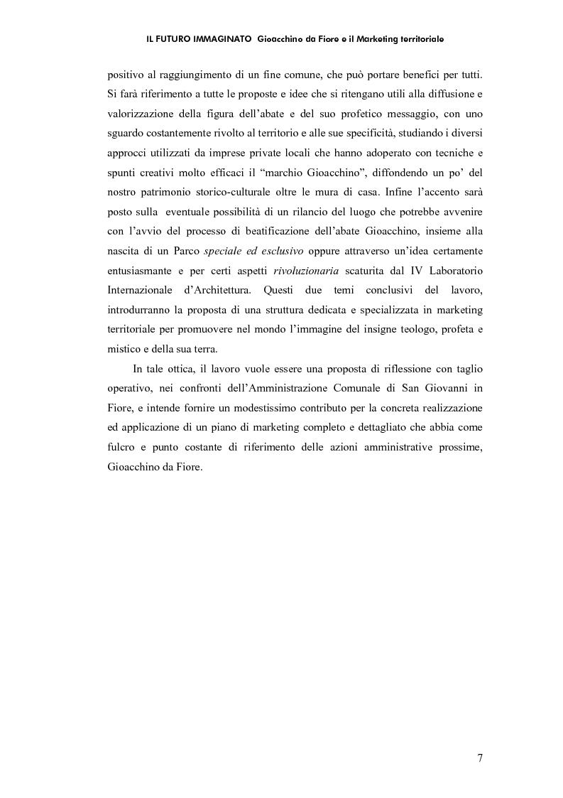 Anteprima della tesi: Il futuro immaginato - Gioacchino da Fiore e il marketing territoriale, Pagina 3