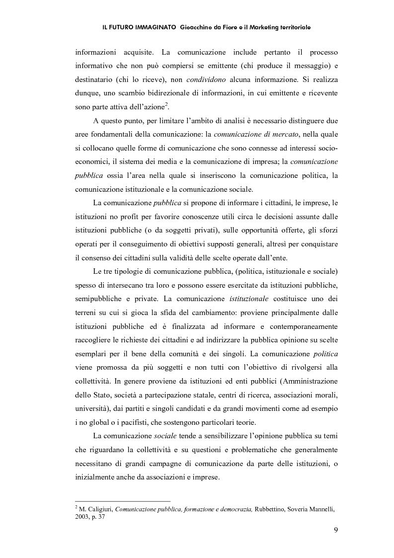 Anteprima della tesi: Il futuro immaginato - Gioacchino da Fiore e il marketing territoriale, Pagina 5