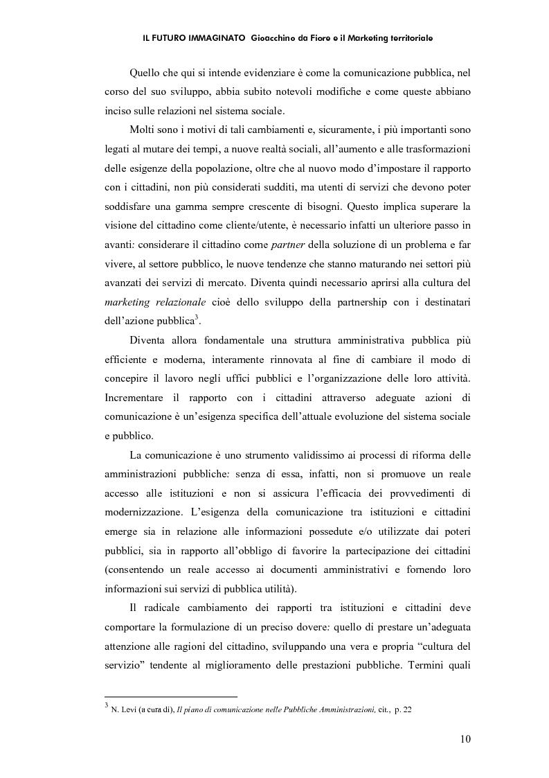 Anteprima della tesi: Il futuro immaginato - Gioacchino da Fiore e il marketing territoriale, Pagina 6