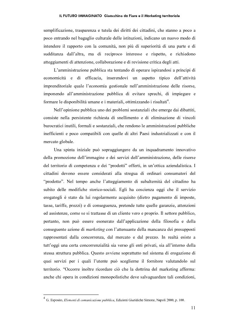 Anteprima della tesi: Il futuro immaginato - Gioacchino da Fiore e il marketing territoriale, Pagina 7