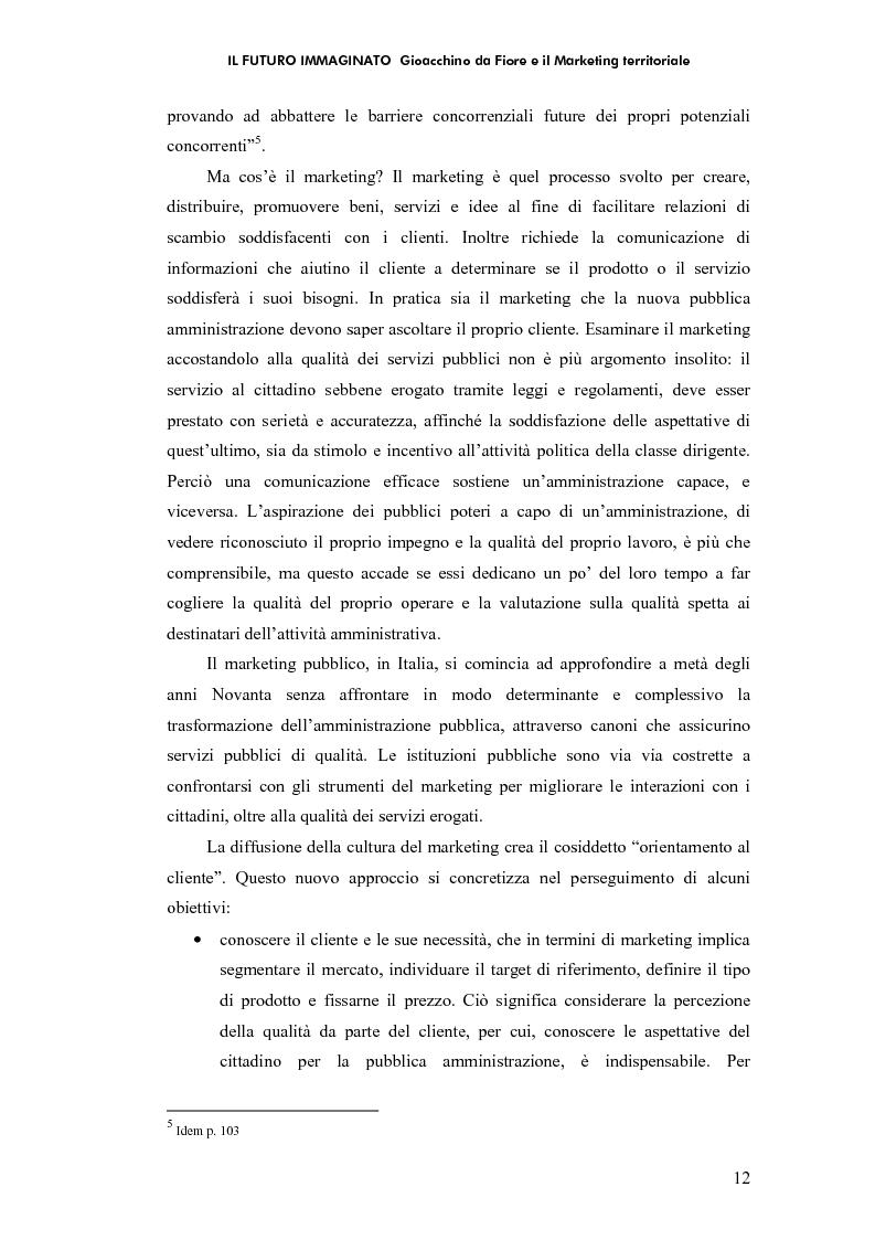Anteprima della tesi: Il futuro immaginato - Gioacchino da Fiore e il marketing territoriale, Pagina 8
