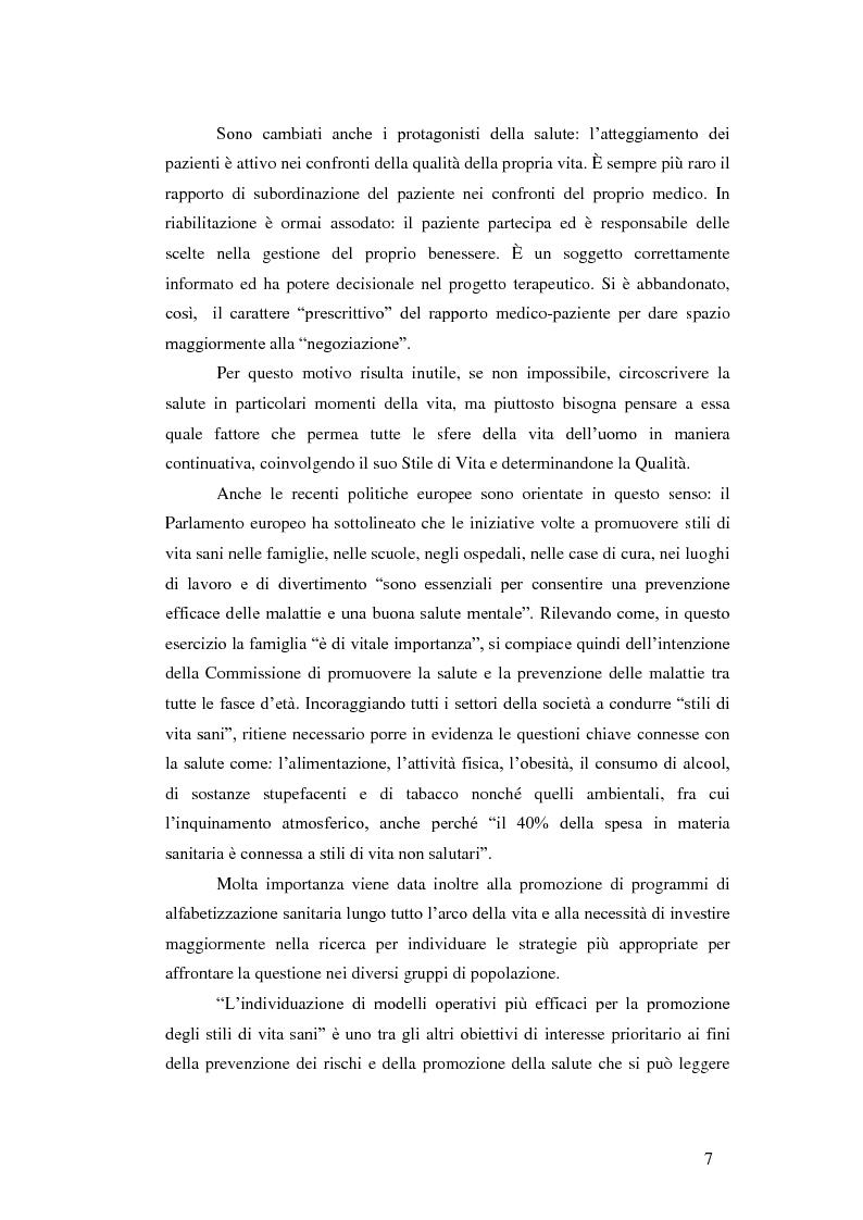Anteprima della tesi: Valutazione dell'efficacia dell'intervento sullo stile di vita in pazienti affetti da sclerosi multipla: risultati preliminari, Pagina 3