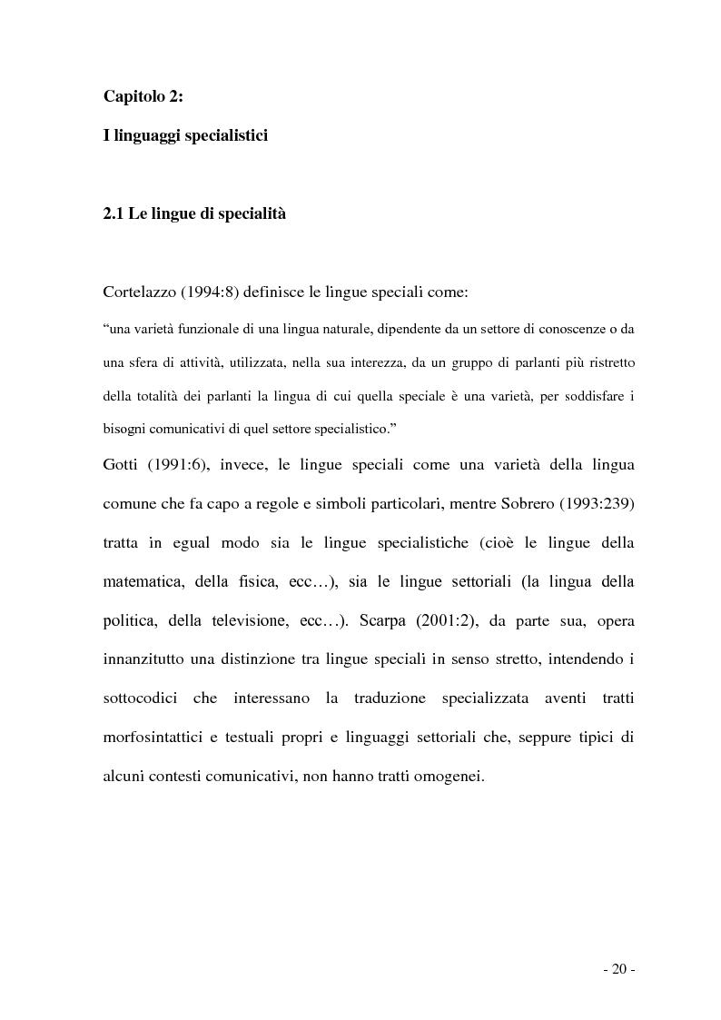 Anteprima della tesi: Problemi e/o difficoltà nella traduzione specializzata in ambito bancario, Pagina 15