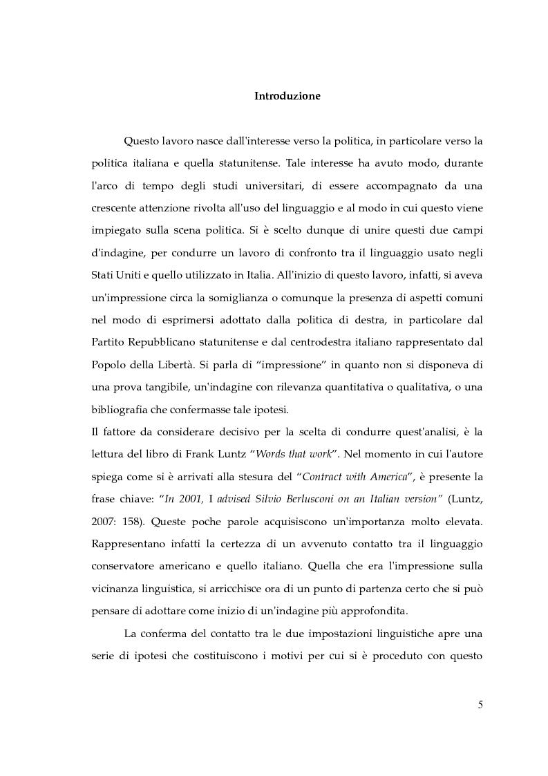 Anteprima della tesi: Il pensiero conservatore e le tecniche comunicative di Frank Luntz. Gli effetti sul linguaggio delle politiche italiane e statunitense. Un'analisi corpus-based., Pagina 1