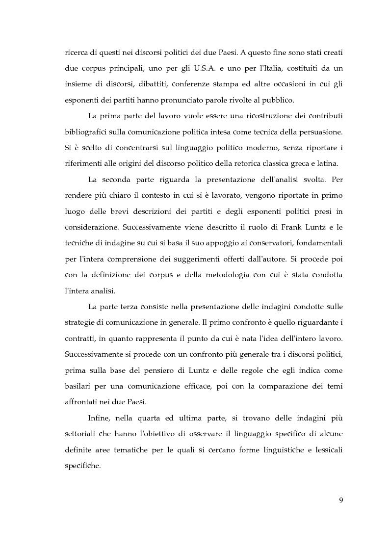 Anteprima della tesi: Il pensiero conservatore e le tecniche comunicative di Frank Luntz. Gli effetti sul linguaggio delle politiche italiane e statunitense. Un'analisi corpus-based., Pagina 5