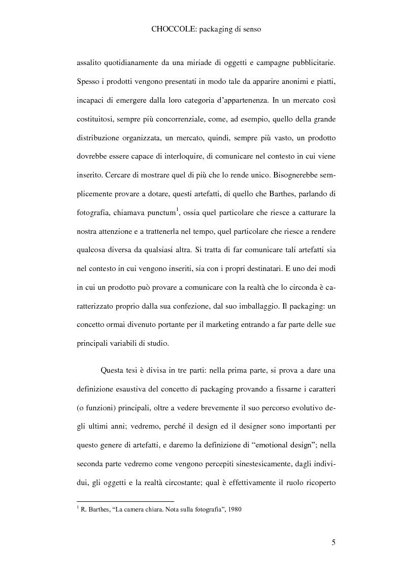 Anteprima della tesi: Choccole: packaging di senso, Pagina 2