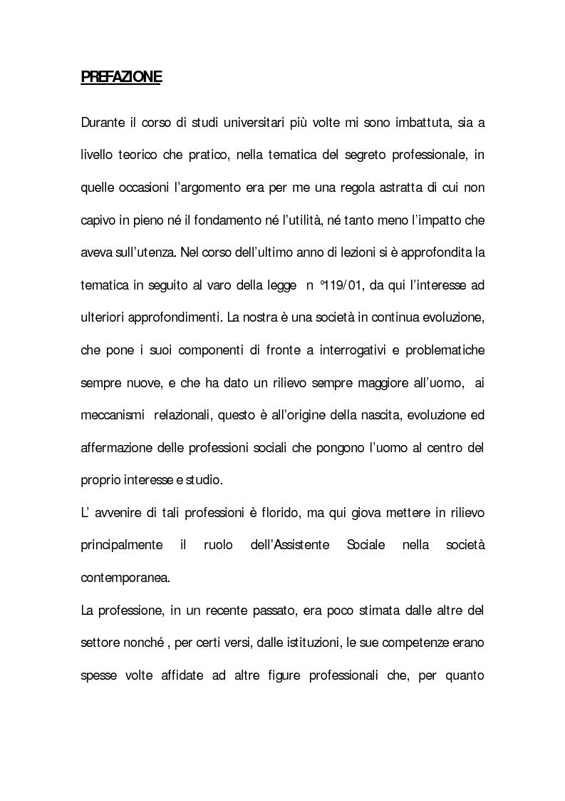 Anteprima della tesi: Il segreto professionale: profili penalistici, Pagina 2