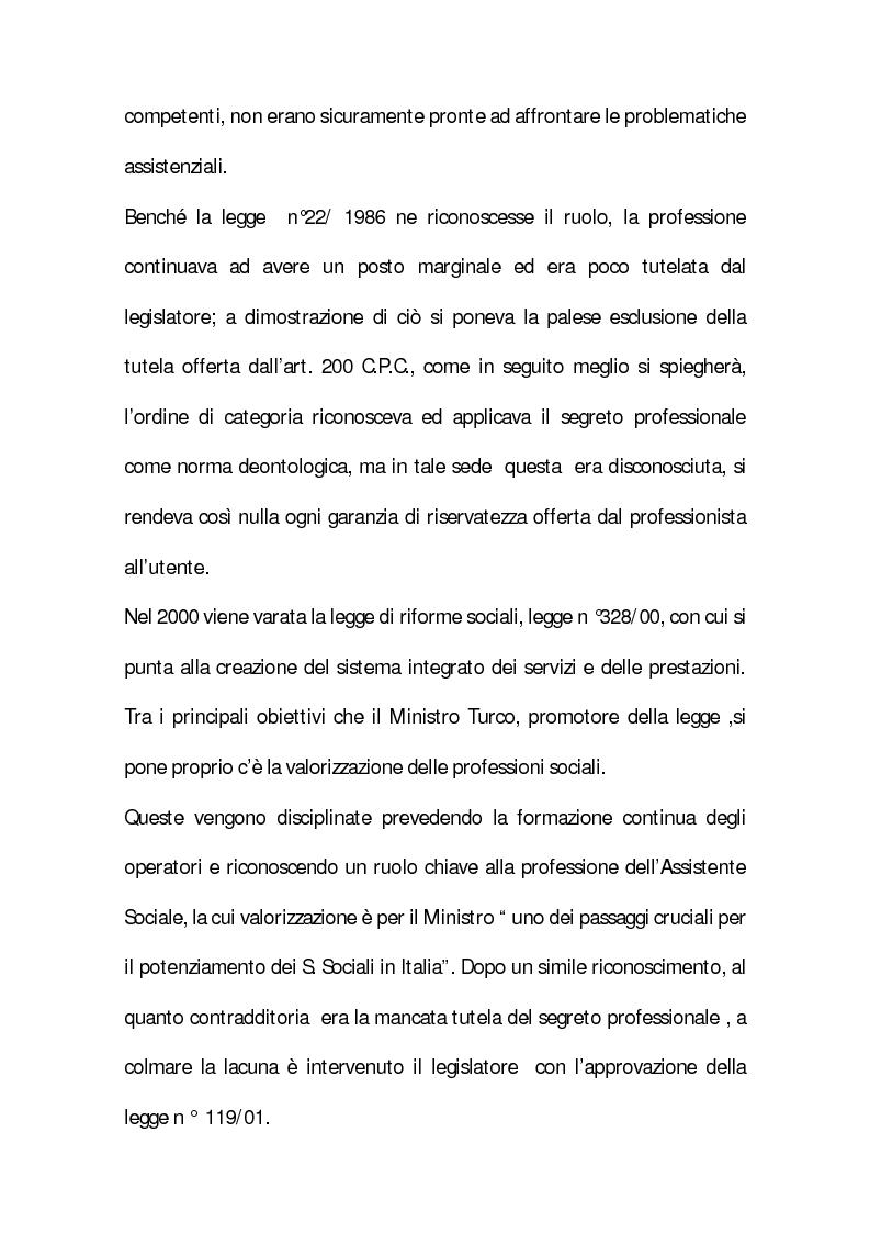 Anteprima della tesi: Il segreto professionale: profili penalistici, Pagina 3