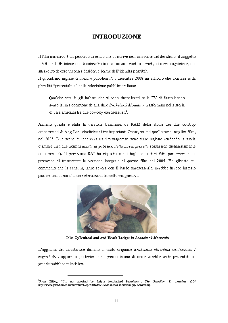 Anteprima della tesi: ''Il vizietto delle piume di struzzo'' - Vecchi stereotipi e nuovi omosessuali nelle rappresentazioni di cinema e televisione, Pagina 1