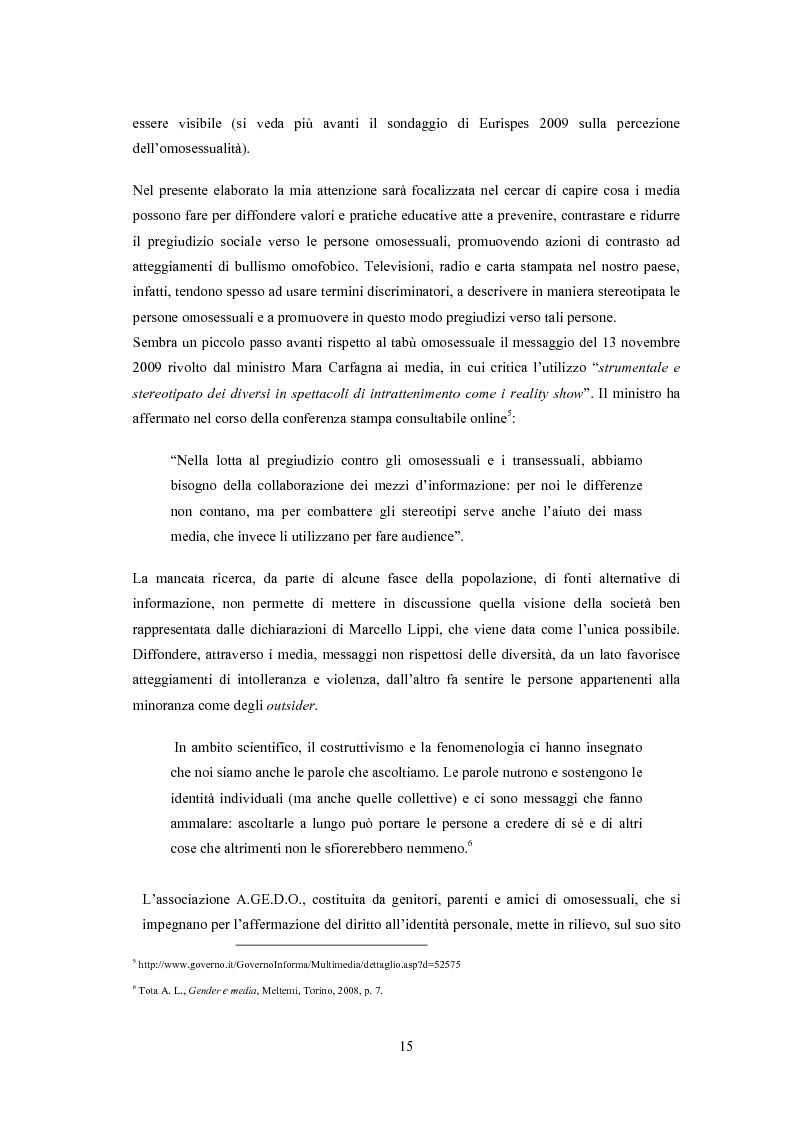 Anteprima della tesi: ''Il vizietto delle piume di struzzo'' - Vecchi stereotipi e nuovi omosessuali nelle rappresentazioni di cinema e televisione, Pagina 5