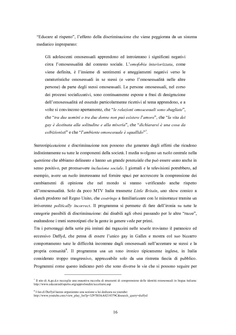 Anteprima della tesi: ''Il vizietto delle piume di struzzo'' - Vecchi stereotipi e nuovi omosessuali nelle rappresentazioni di cinema e televisione, Pagina 6