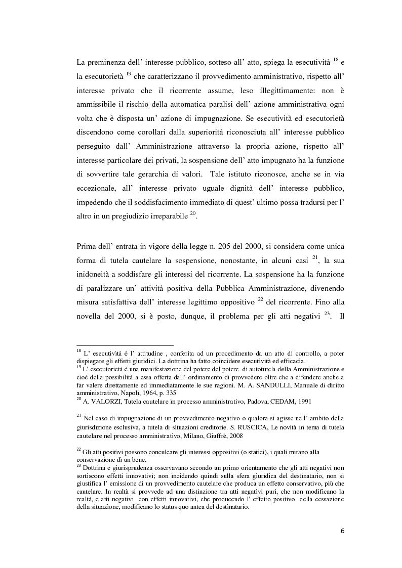 Anteprima della tesi: La tutela cautelare nel giudizio amministrativo, Pagina 11