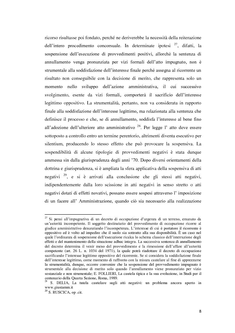 Anteprima della tesi: La tutela cautelare nel giudizio amministrativo, Pagina 13