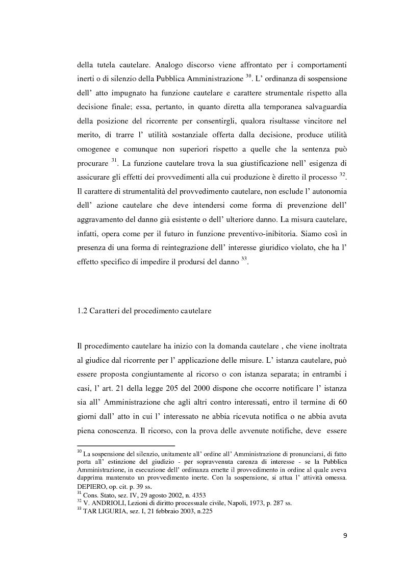 Anteprima della tesi: La tutela cautelare nel giudizio amministrativo, Pagina 14