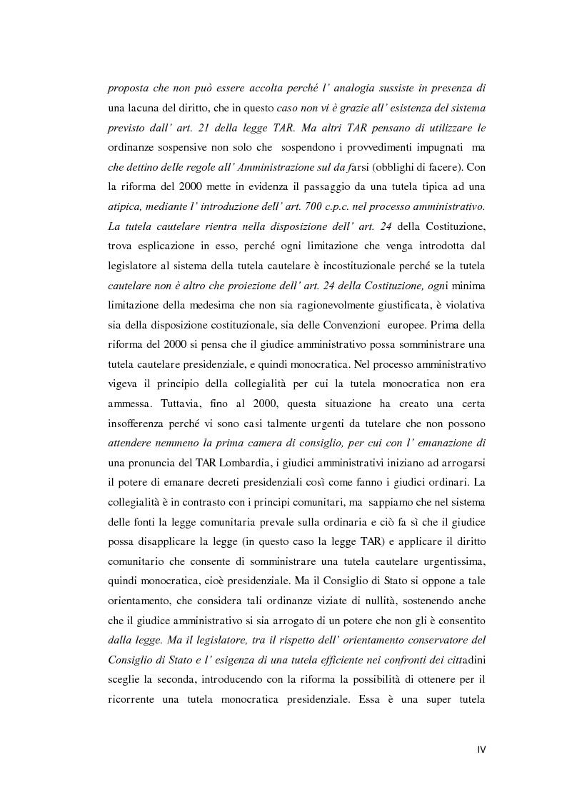 Anteprima della tesi: La tutela cautelare nel giudizio amministrativo, Pagina 2
