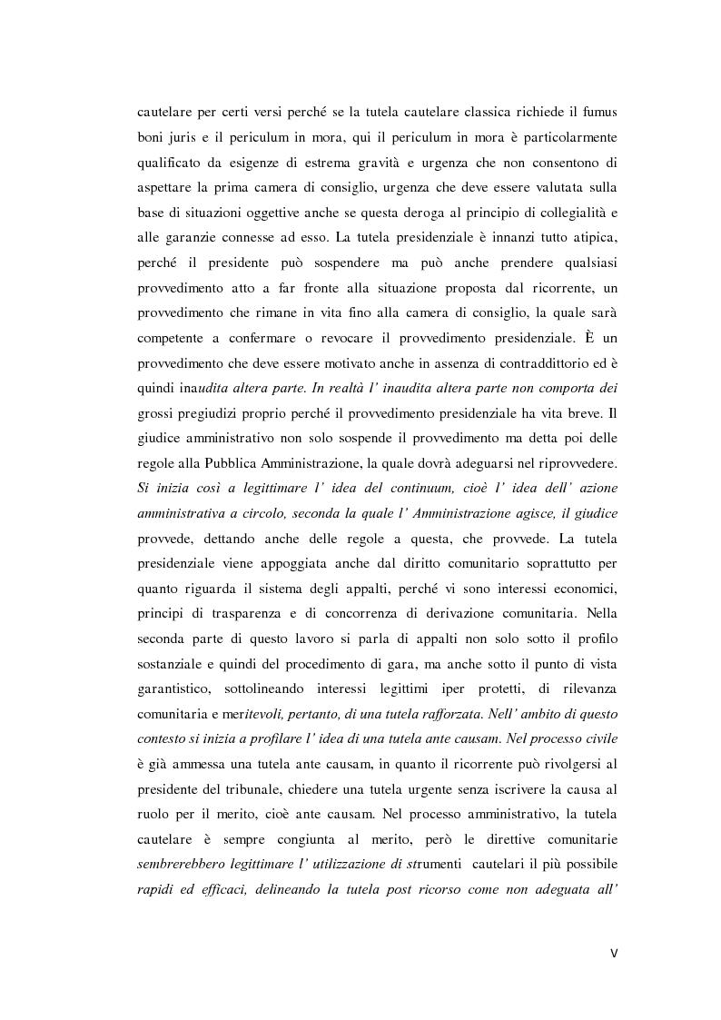 Anteprima della tesi: La tutela cautelare nel giudizio amministrativo, Pagina 3