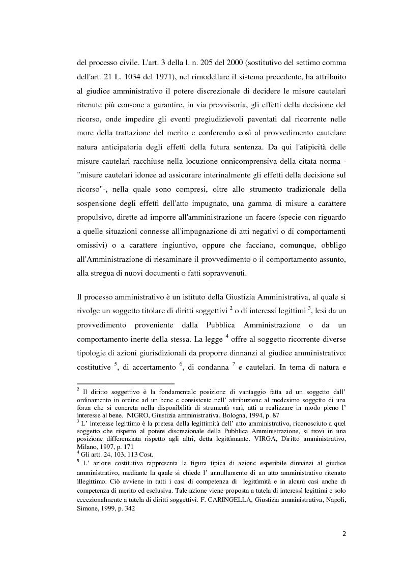 Anteprima della tesi: La tutela cautelare nel giudizio amministrativo, Pagina 7