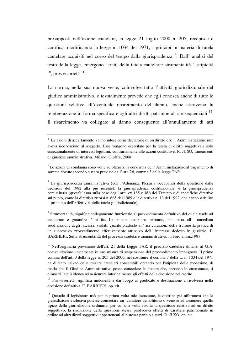 Anteprima della tesi: La tutela cautelare nel giudizio amministrativo, Pagina 8