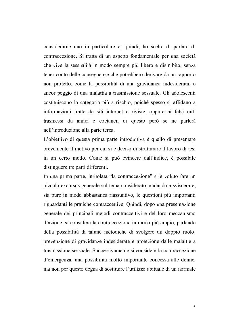 Anteprima della tesi: La contraccezione: ruolo dell'ostetrica nell'educazione contraccettiva in età adolescenziale, Pagina 2