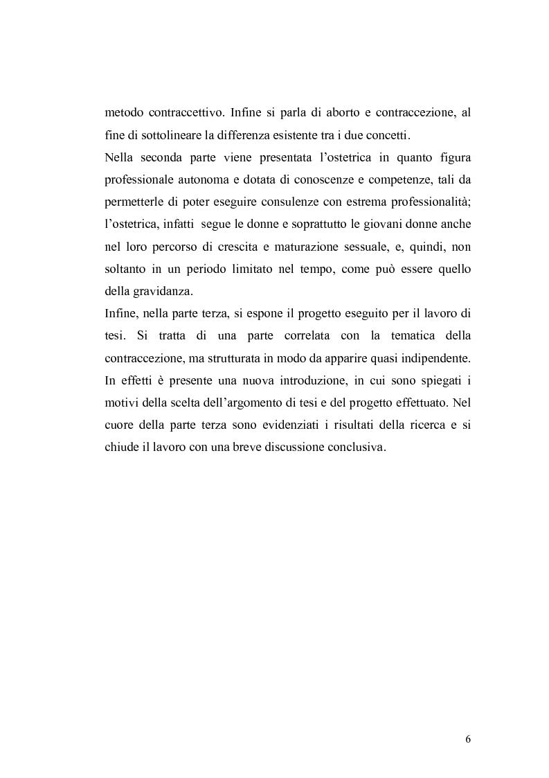 Anteprima della tesi: La contraccezione: ruolo dell'ostetrica nell'educazione contraccettiva in età adolescenziale, Pagina 3