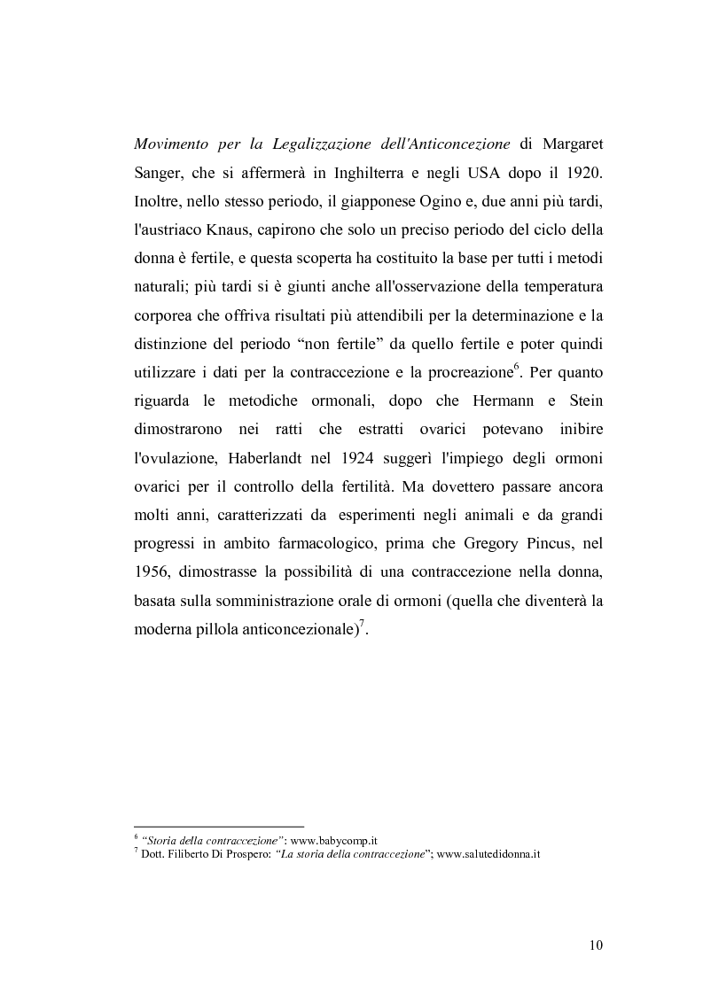 Anteprima della tesi: La contraccezione: ruolo dell'ostetrica nell'educazione contraccettiva in età adolescenziale, Pagina 7