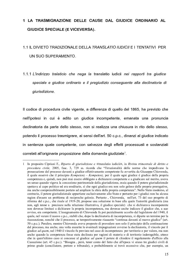 Anteprima della tesi: Per l'unità della giurisdizione, Pagina 11