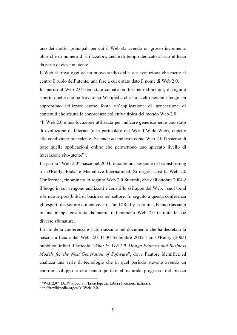 Anteprima della tesi: La comunicazione del brand nell'era del Web 2.0, Pagina 10