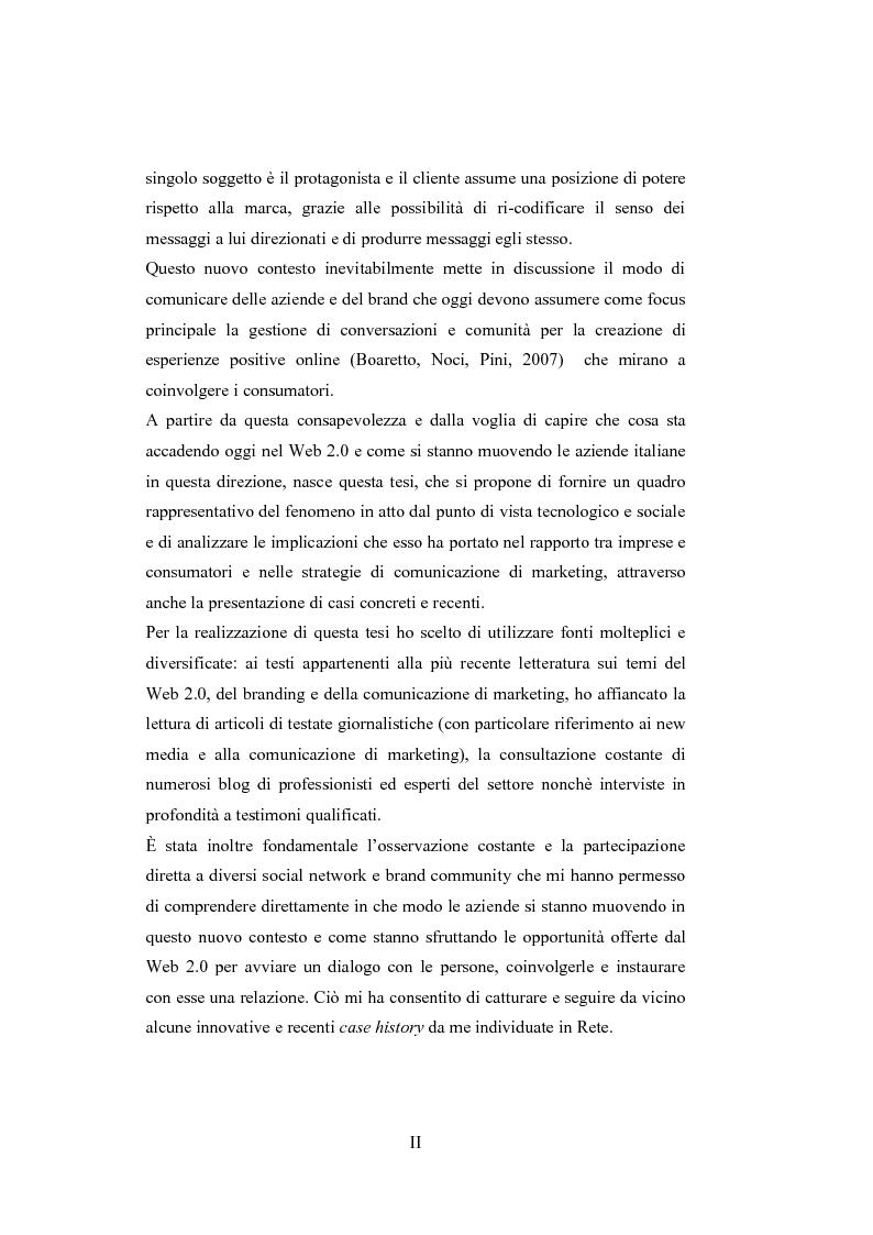 Anteprima della tesi: La comunicazione del brand nell'era del Web 2.0, Pagina 2